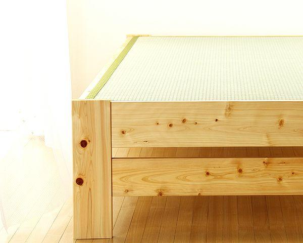爽やかなナチュラル感の木製畳ベッドシングルサイズ_詳細03