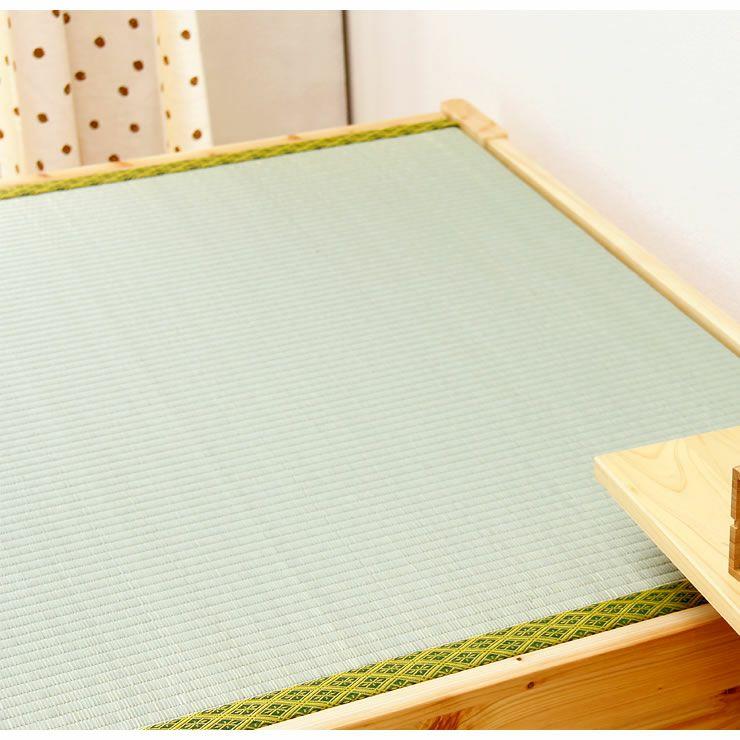 爽やかなナチュラル感の木製畳ベッドセミダブルサイズ_詳細18