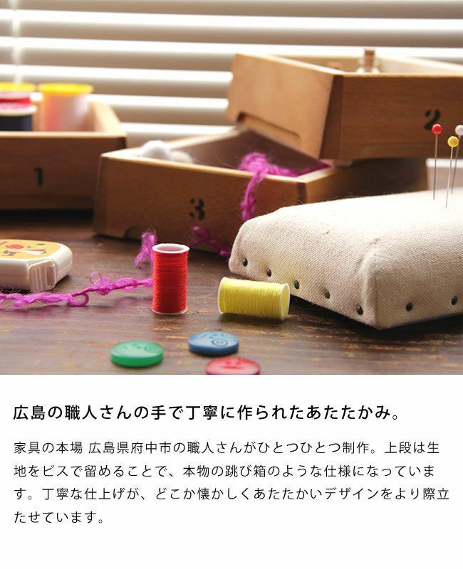 ミニ跳び箱小物入れ・裁縫箱(3段)_詳細05