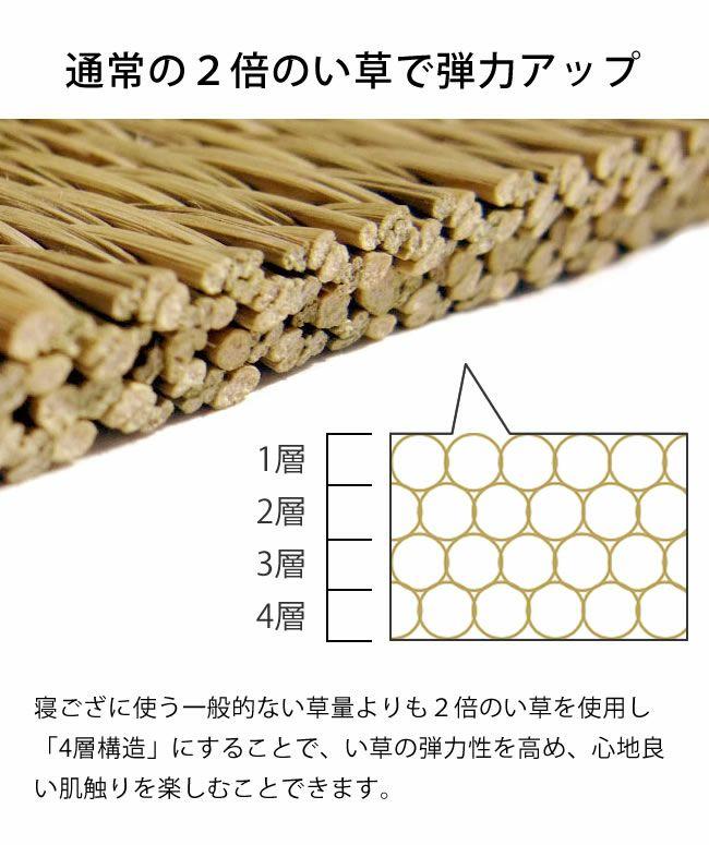 福岡で作る純国産の寝ござ・寝茣蓙 (200×95cm)_詳細06