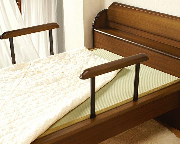 手すり付きで立ち上がり簡単木製畳ベッドシングルサイズ_詳細02