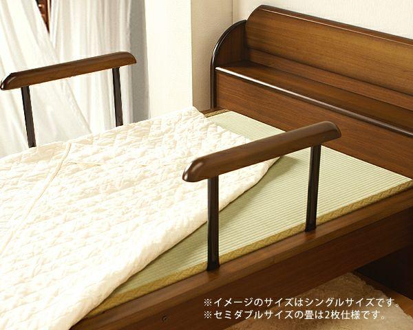 手すり付きで立ち上がり簡単木製畳ベッドセミダブルサイズ_詳細02