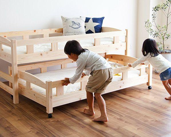 生活スタイルに合わせて変化する親子ベッド(中段+下段)_詳細02