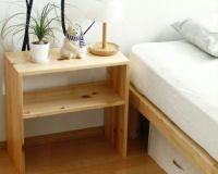 広島の家具職人が手づくりの北欧風木製テーブルひのきの木製ナイトテーブル_詳細01