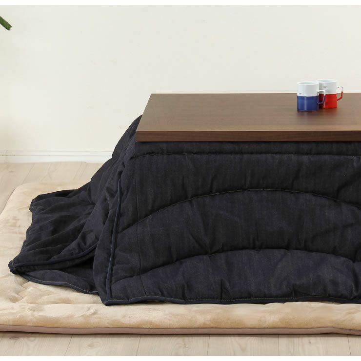 シンプルでリビングに馴染むウォールナット材の こたつテーブル 長方形105cm幅_詳細18