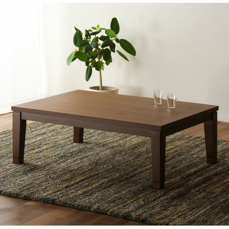 シンプルでリビングに馴染むウォールナット材の こたつテーブル 長方形120cm幅_詳細19