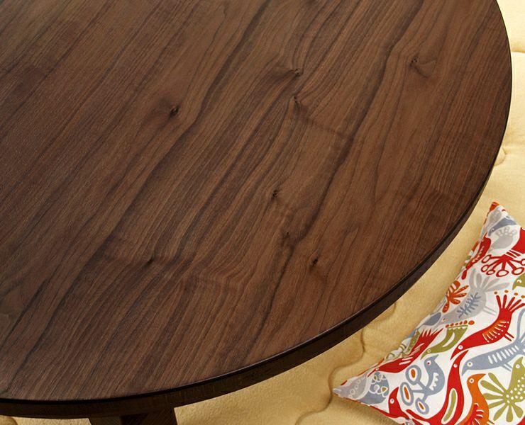 こたつテーブル 円形120cm丸 ウォールナット材 折れ脚タイプ_詳細02