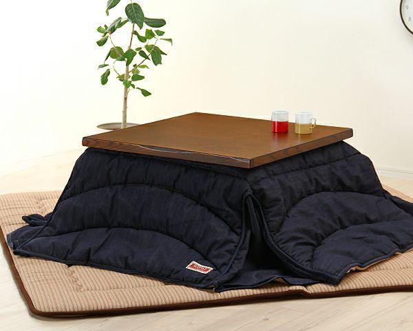 タモ材の風合いでほっと落ち着く こたつテーブル 正方形80cm幅_詳細02