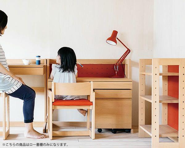女性視点デザインの木のロー書棚・本棚ラック 杉工場「MUCMOC(ムックモック)」_詳細03