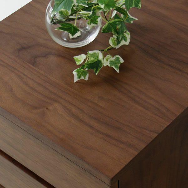 深みのある色合いのウォールナット木製チェスト40cm幅_詳細03