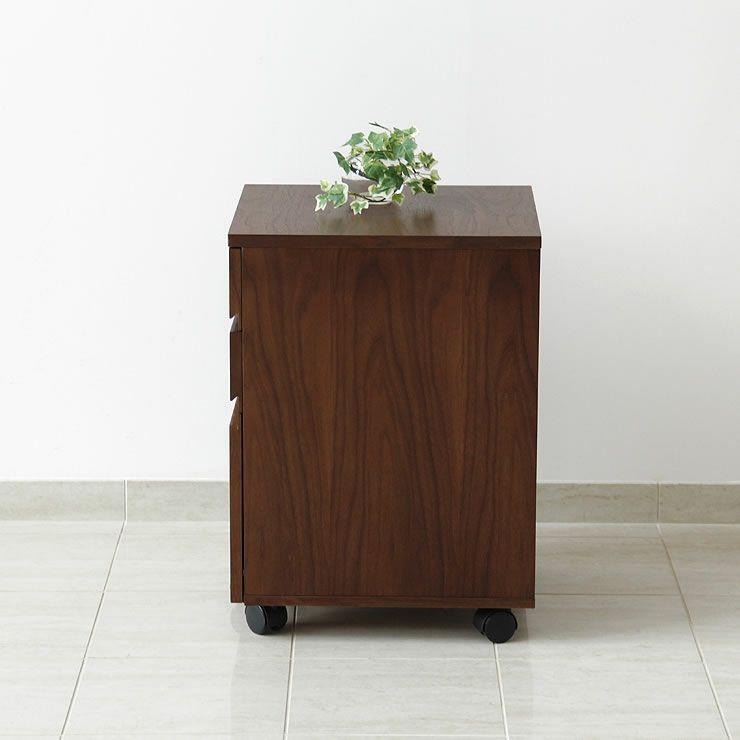 深みのある色合いのウォールナット木製チェスト40cm幅_詳細14