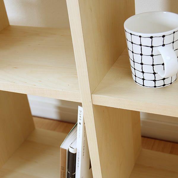 メープル材の素材感たっぷり木の温もりあふれるシェルフ1070(高さ107cm) 杉工場「木と風」_詳細03