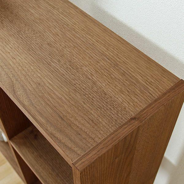 ウォールナット材の素材感たっぷり木の温もりあふれるシェルフ720(高さ72cm) 杉工場「木と風」_詳細02