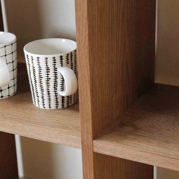 ウォールナット材の素材感たっぷり木の温もりあふれるシェルフ720(高さ72cm) 杉工場「木と風」_詳細03