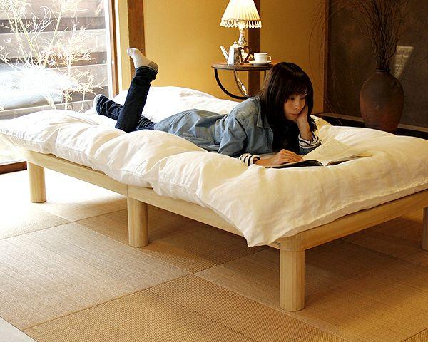 広島の家具職人が手づくり角丸 すのこベッド(桐材)シングルサイズ(ヘッドレス)フレームのみ_詳細02