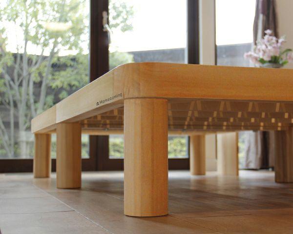 広島の家具職人が手づくり角丸 すのこベッド(桐材)シングルサイズ(ヘッドレス)フレームのみ_詳細03
