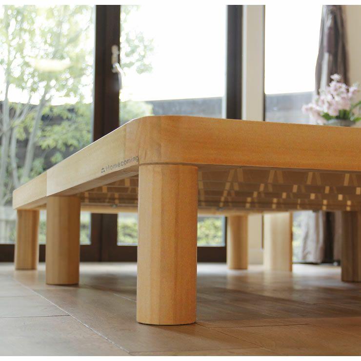 広島の家具職人が手づくり角丸 すのこベッド(桐材)シングルサイズ(ヘッドレス)フレームのみ_詳細19