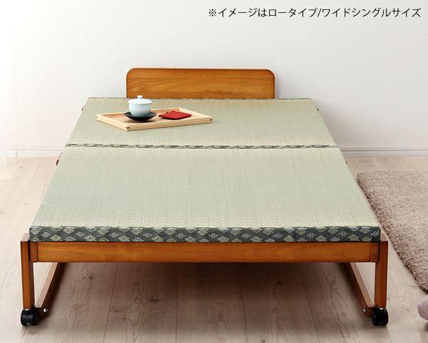 出し入れ簡単!折り畳みが驚くほど軽くてスムーズな木製折りたたみ畳ベッド シングルロータイプ_詳細03