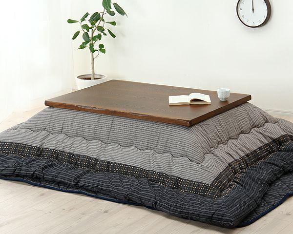 こたつテーブル 長方形105cm幅 タモ材_詳細02