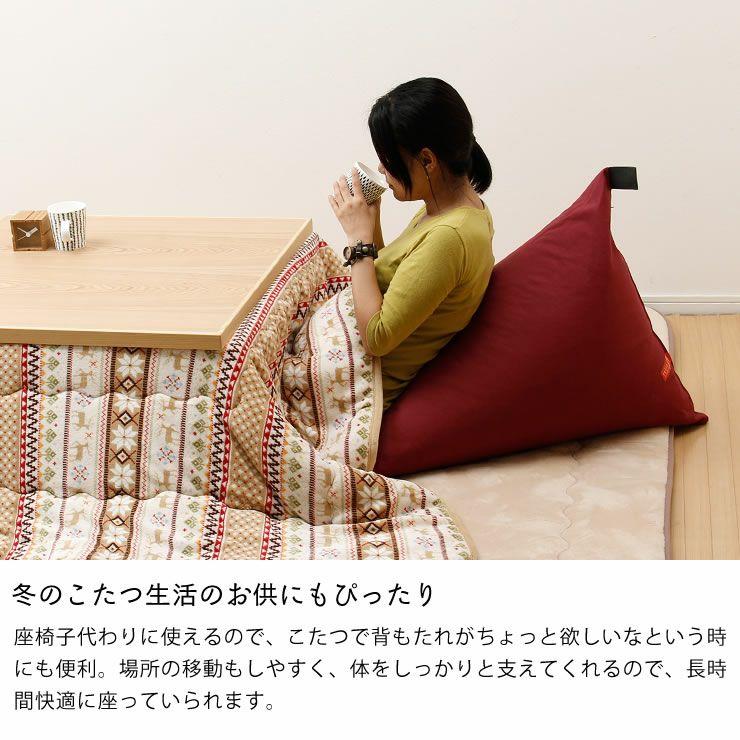 ソファー、座椅子感覚のビーズクッションtetra(テトラ) レギュラーサイズ_詳細06