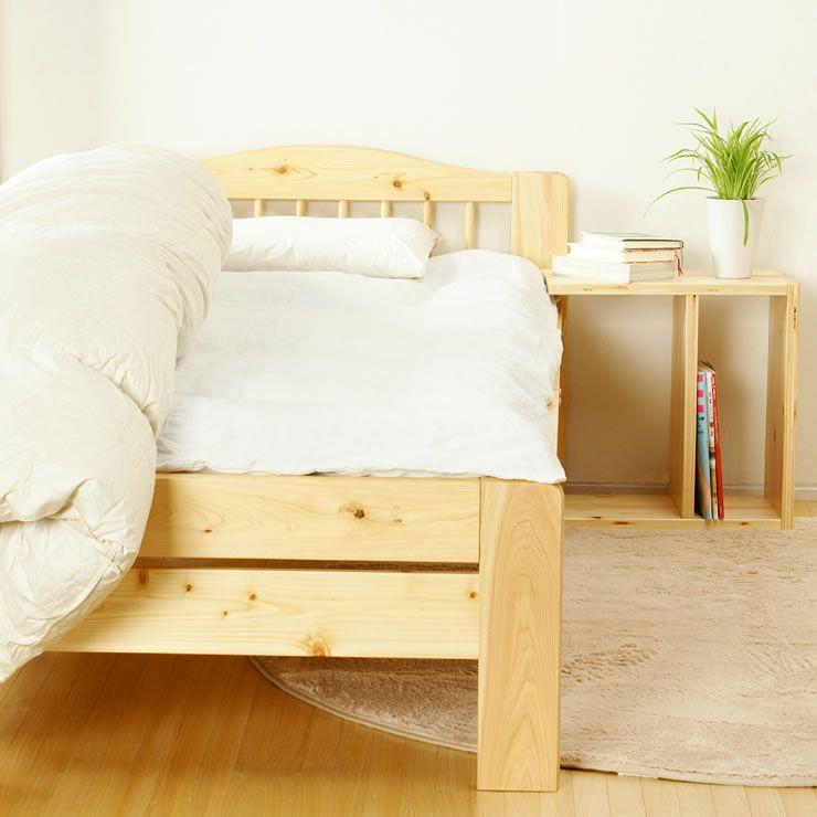 ひのき材の木製畳ベッドシングルサイズたたみ付_詳細03