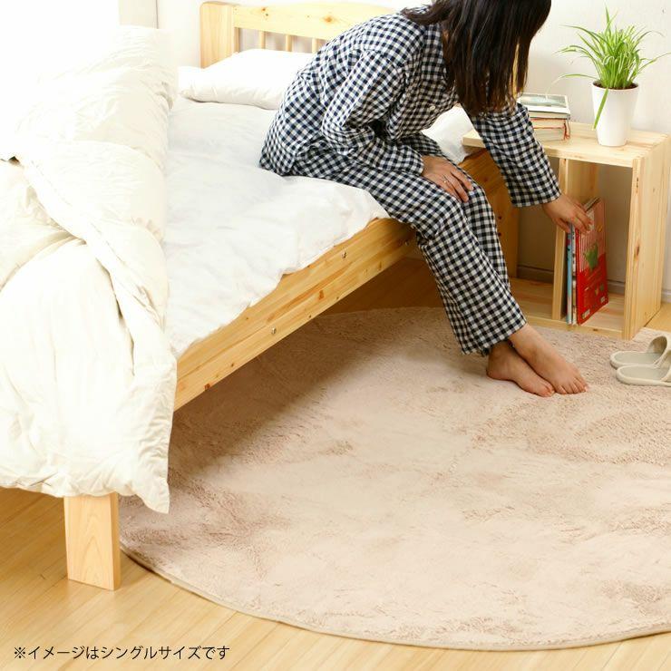 ひのき材の木製畳ベッドセミダブルサイズたたみ付_詳細17