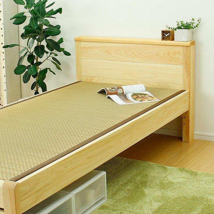 ひのき無垢材を贅沢に使用した木製畳ベッドシングルサイズ_詳細02