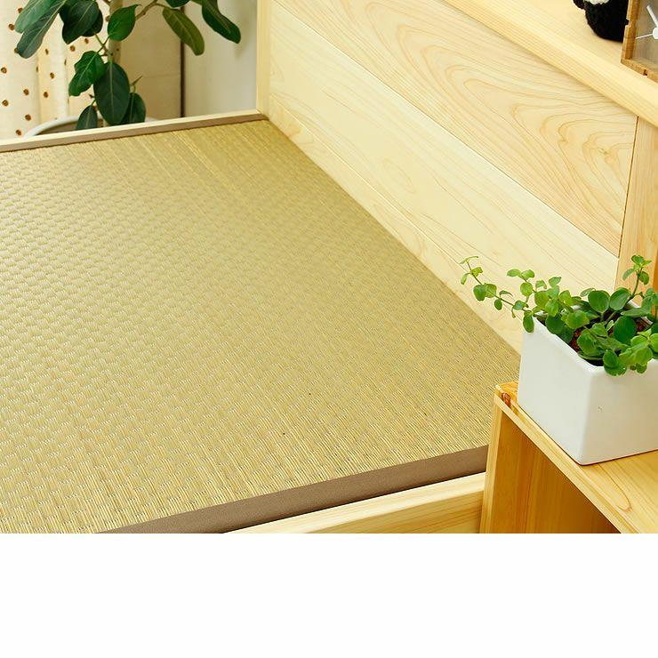 ひのき無垢材を贅沢に使用した木製畳ベッドシングルサイズ_詳細17