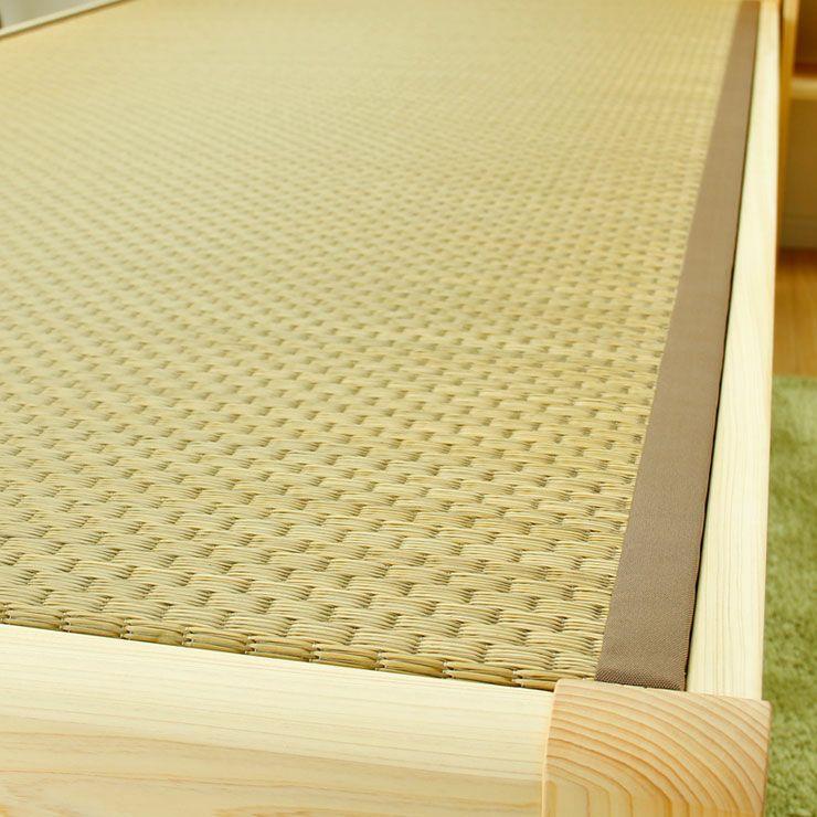 ひのき無垢材を贅沢に使用した木製畳ベッドセミダブルサイズ_詳細03