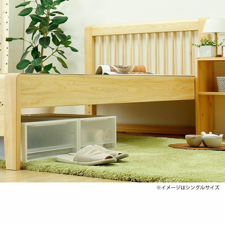 ひのき無垢材を贅沢に使用した木製畳ベッドセミダブルサイズ_詳細18