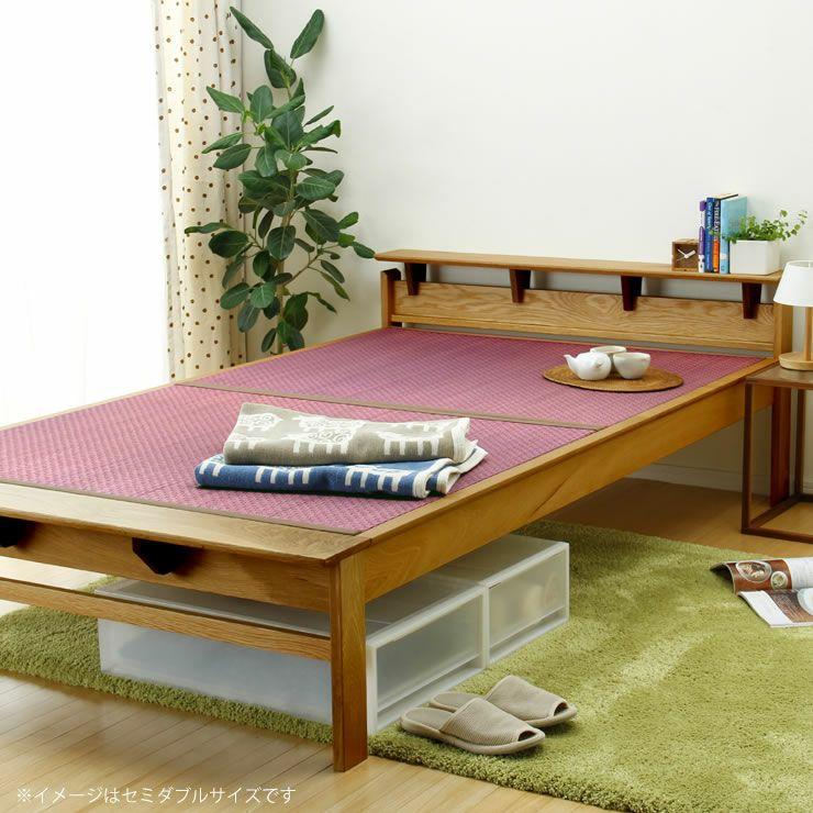 畳カラーが選べるオーク無垢材を使用した木製畳ベッドシングルサイズ_詳細17