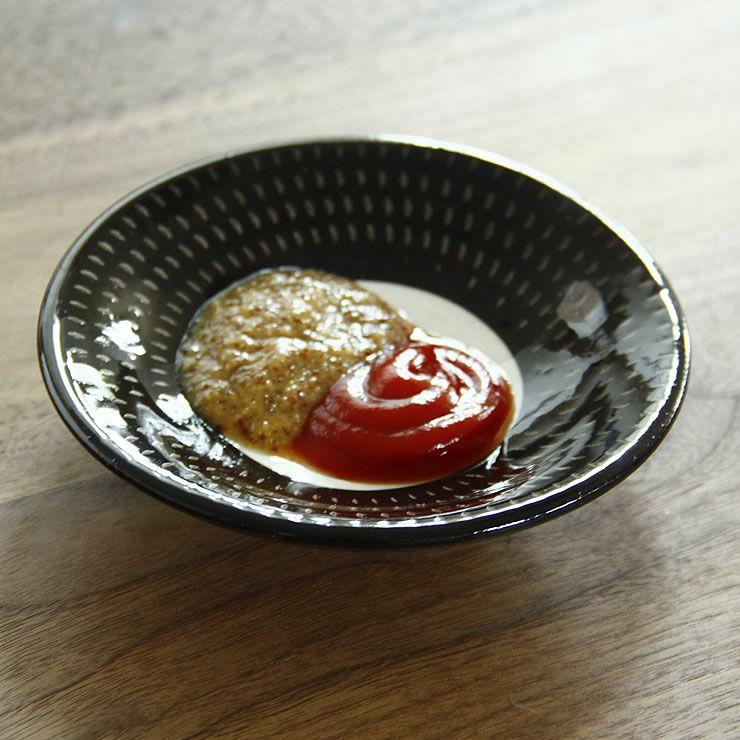 鶴見窯(つるみがま)小石原焼小皿白×黒ふち(直径12cm)_詳細12