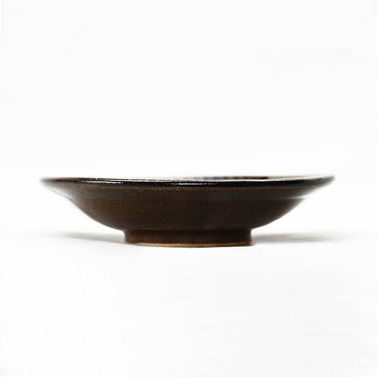 鶴見窯(つるみがま)小石原焼小皿白×黒ふち(直径12cm)_詳細14