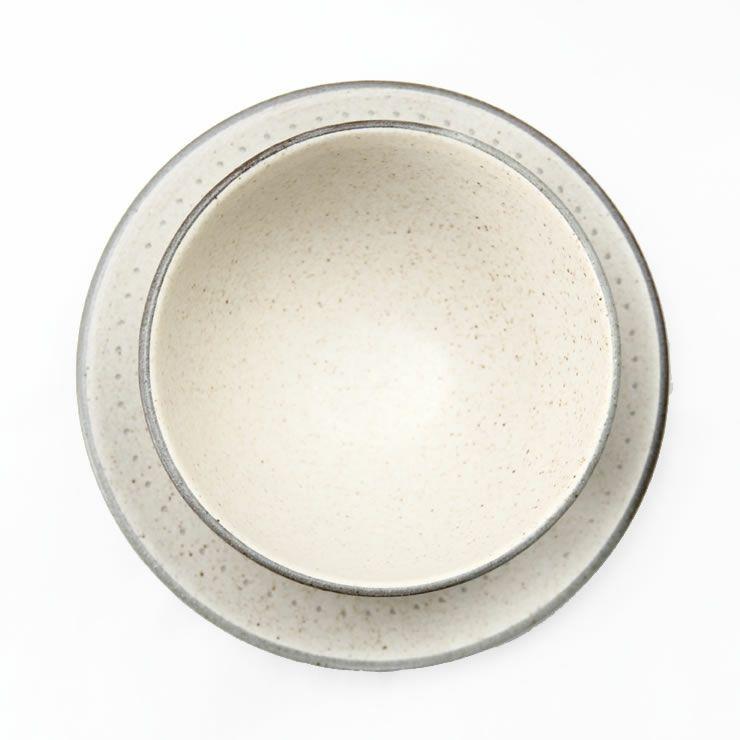 鶴見窯(つるみがま)小石原焼カフェオレボウル+平皿セット ボーダー+白マット(直径11.5cm+直径16cm)_詳細11