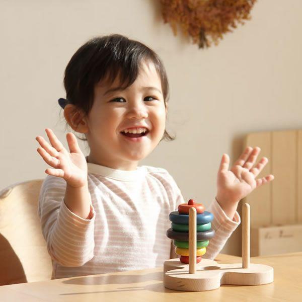 銀河工房木のおもちゃ「ハノイの塔数学パズル」_詳細03