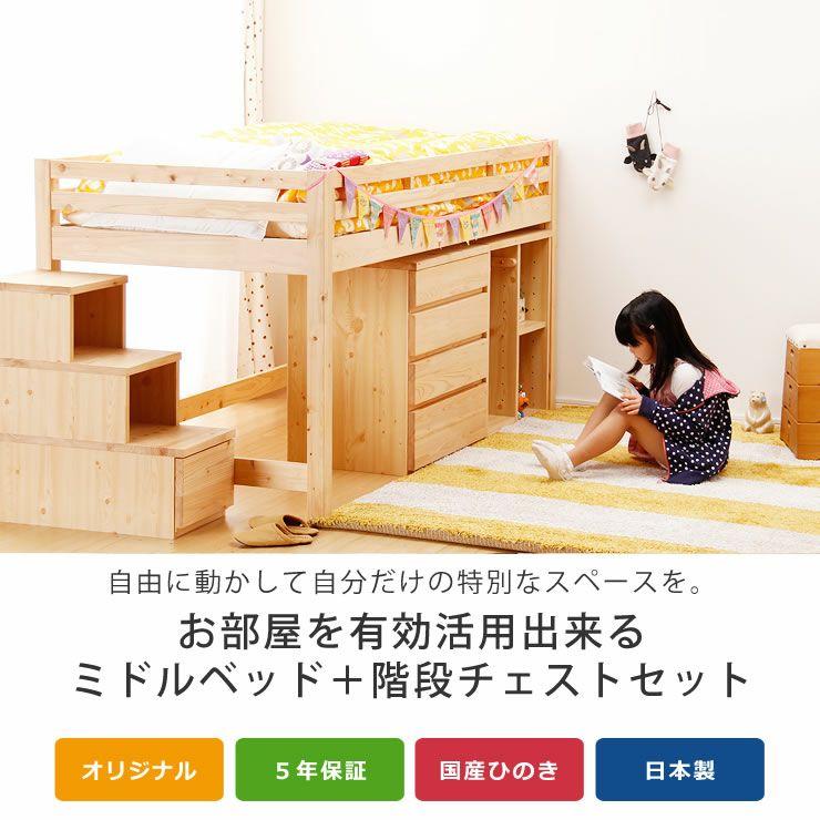 子供部屋にぴったり!お部屋を有効活用出来る万能システム・ロフトベッド(階段タイプ)_詳細04