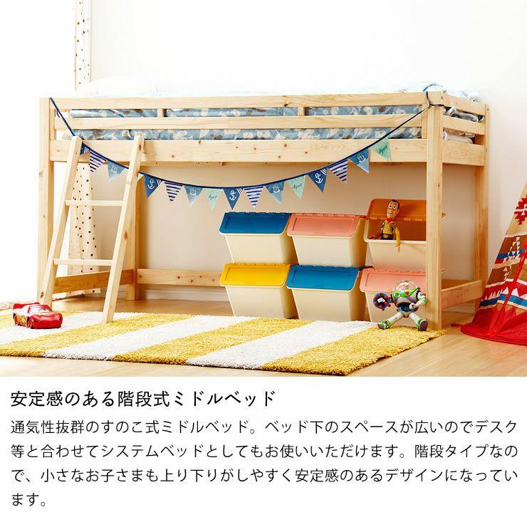 子供部屋にぴったり!お部屋を有効活用出来る万能システム・ロフトベッド(階段タイプ)_詳細09