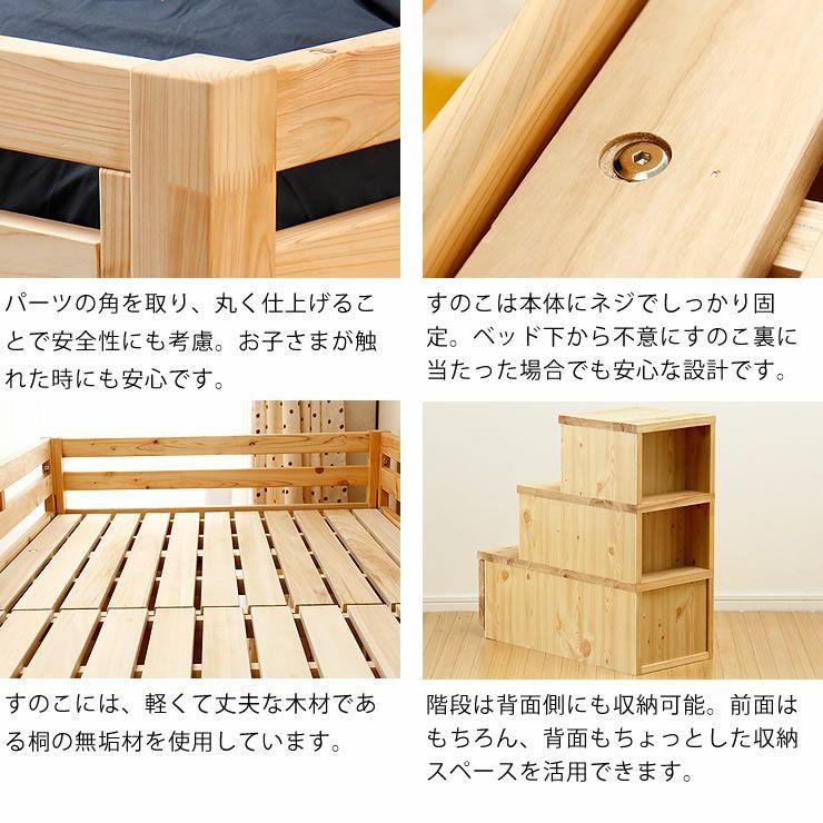 子供部屋にぴったり!お部屋を有効活用出来る万能システム・ロフトベッド(階段タイプ)_詳細10