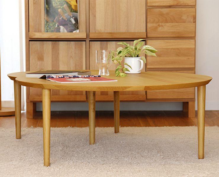 色々な表情を演出できる木製2枚テーブル 69cm幅_詳細02