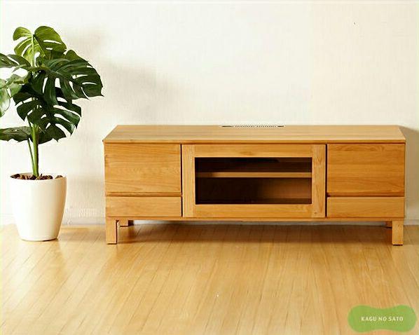シンプルでやさしい暖かみの木製テレビボード・テレビ台112cm幅_詳細01