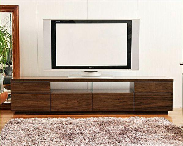 流れる木目が美しいシンプルなテレビボードウォールナット 幅180cm_詳細01