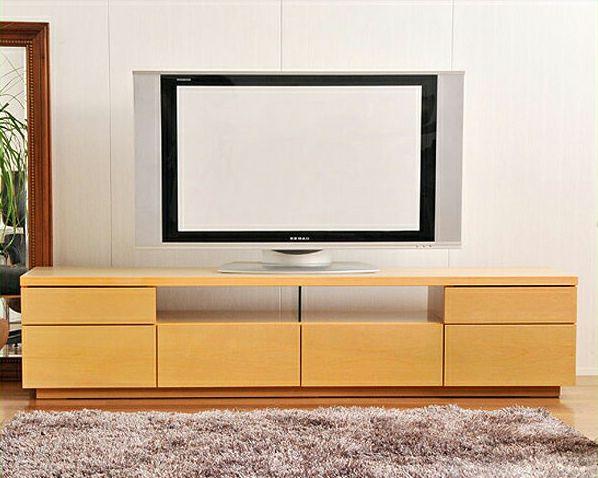 流れる木目が明るく優しいシンプルなテレビボードメープル 幅180cm_詳細01
