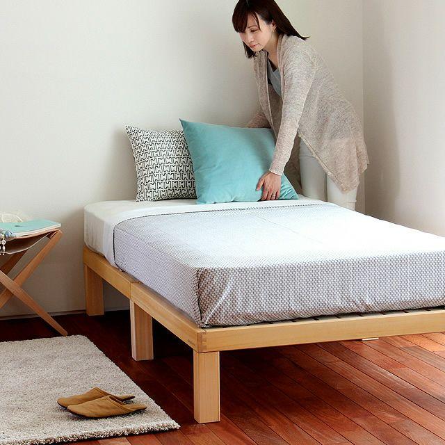 あ!かる~い!高級桐材使用、組み立て簡単シンプルなすのこベッドシングルベッドフレームのみ ホームカミング(Homecoming)_詳細03