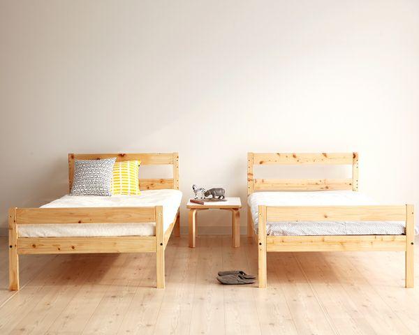 デザインを楽しむおしゃれな北欧テイストの国産ひのき二段ベッド_詳細03