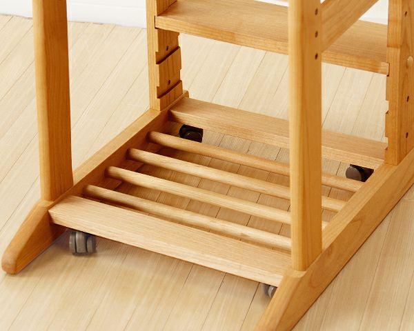 木のぬくもりがあり使いやすい学習椅子・学習チェア(ピンク)_詳細03