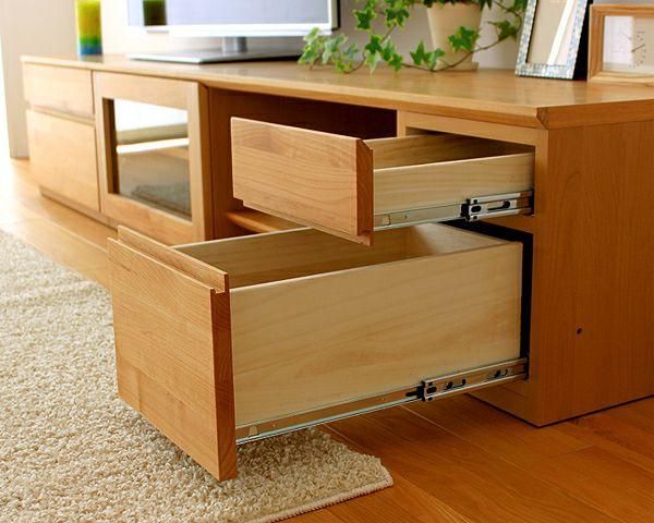 お好みに並べ替えできて使いやすい木製テレビボード・テレビ台 210cm幅(アルダー)_詳細02
