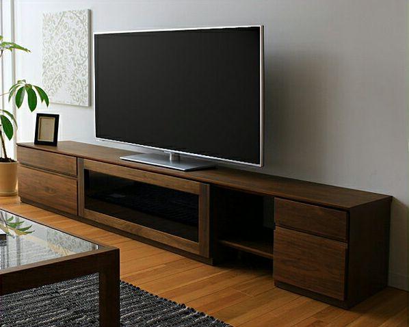 お好みに並べ替えできて使いやすい木製テレビボード・テレビ台 210cm幅(ウォールナット)_詳細01