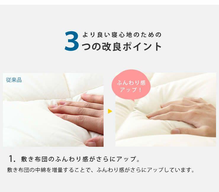 ベッドにぴったりサイズの快適敷き布団ダブルサイズ(138×198cm)_詳細05