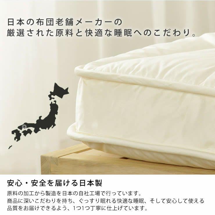 ベッドにぴったりサイズの快適敷き布団ダブルサイズ(138×198cm)_詳細17