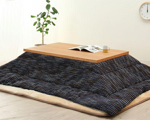 ブラックチェリー材とウォールナット材使用したおしゃれなオリジナルデザインの こたつテーブル長方形120cm幅_詳細03